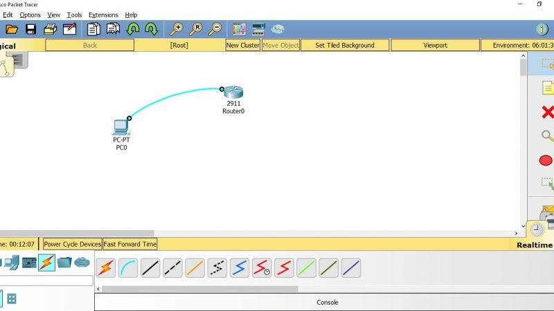 How to access Cisco router via console cable (packet tracer)