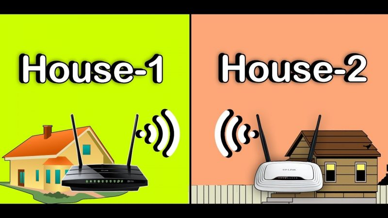 How to connect 2 Houses Wirelessly using TP-link